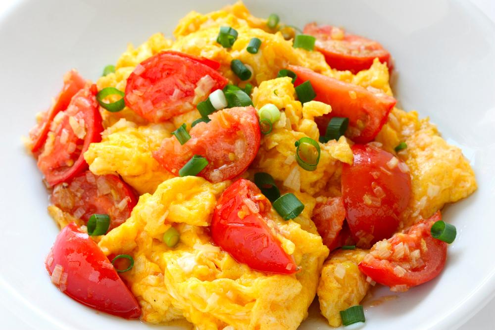 tomato Fried eggs