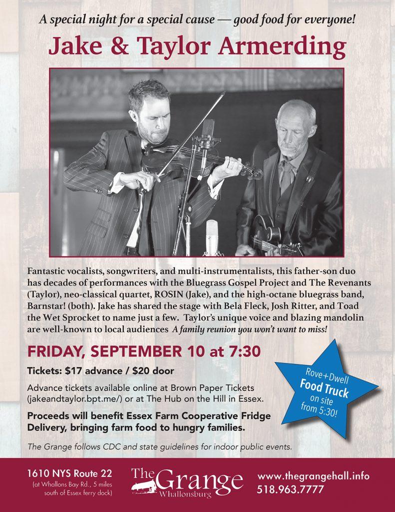 concert fundraising flyer